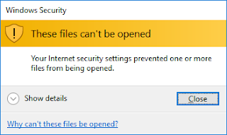 These files can't be opened Tricksuniversity