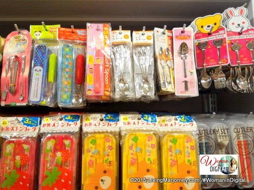 Daiso Cute Spoons and lunchboxes