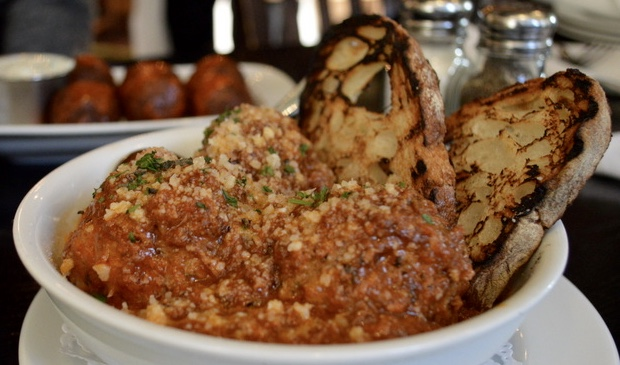 Eating Fabulously, Christopher Stewart, meatballs, National Meatball Day, Boulton and Watt, Park Avenue Tavern, vegetarian meatballs, pork and beef meatballs