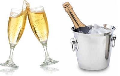 Champagne para comemorar o ano novo