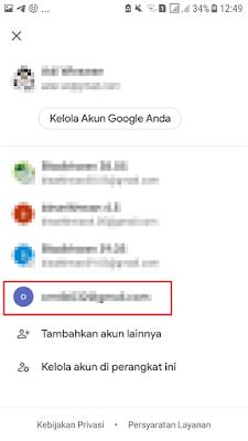 Pilih Akun Gmail Lainnya
