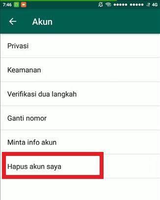 Cara Menghapus Permanen Akun Whatsapp 4