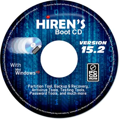 تنزيل اسطوانة Hiren Boot CD مجانا
