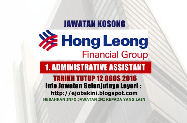 Jawatan Kosong Hong Leong Financial Group Bhd