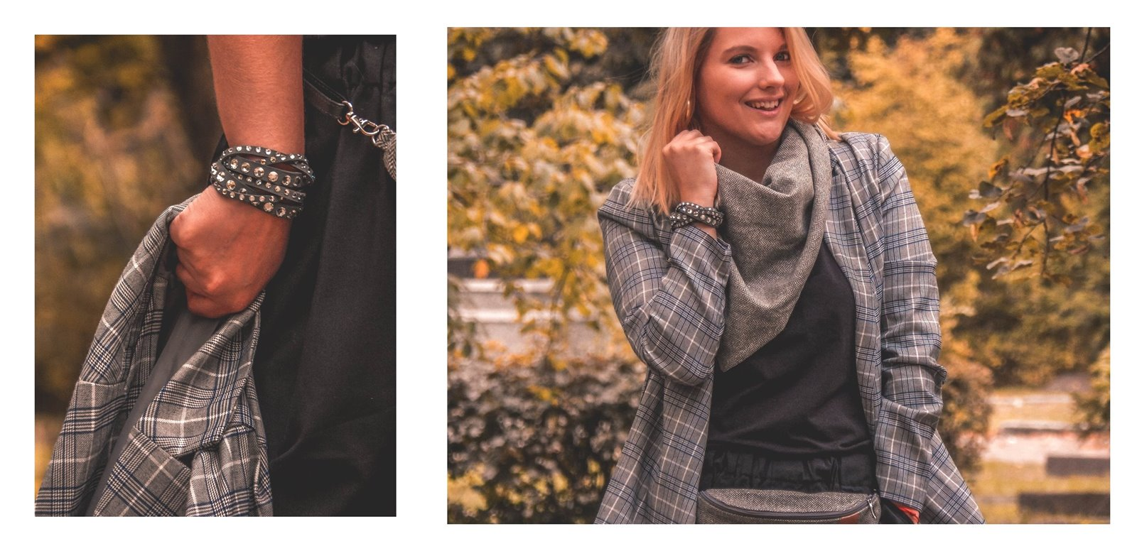 współpraca marka bloger stylizacja cado nerka komin na jesień szara marynarka nakd zniżka cena promocja blondynka selfieroom moda damska blog vansy kuloty jak nosić modna polka łódź lifestyle