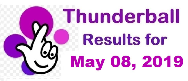 Thunderball results for Wednesday, May 08, 2019