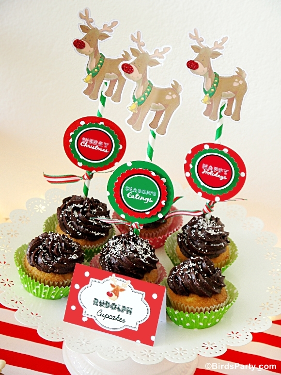 Rudolph Chocolate DIY Cupcakes Recipe - BirdsParty.com