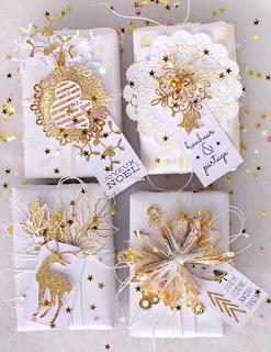 personalizzare regali di natale con oro e luccichii