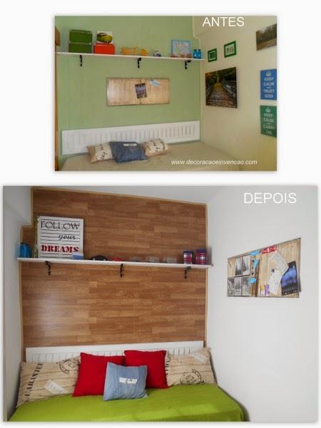 parede de madeira fake