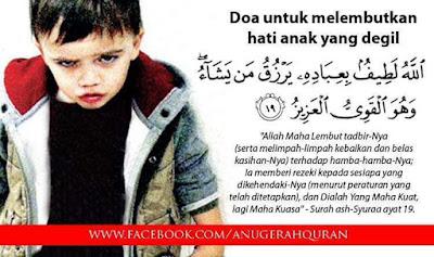 Doa Melembutkan Hati Anak Yang Degil