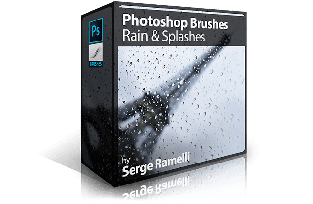 Photoshop Brushes: Rain & Splashes
