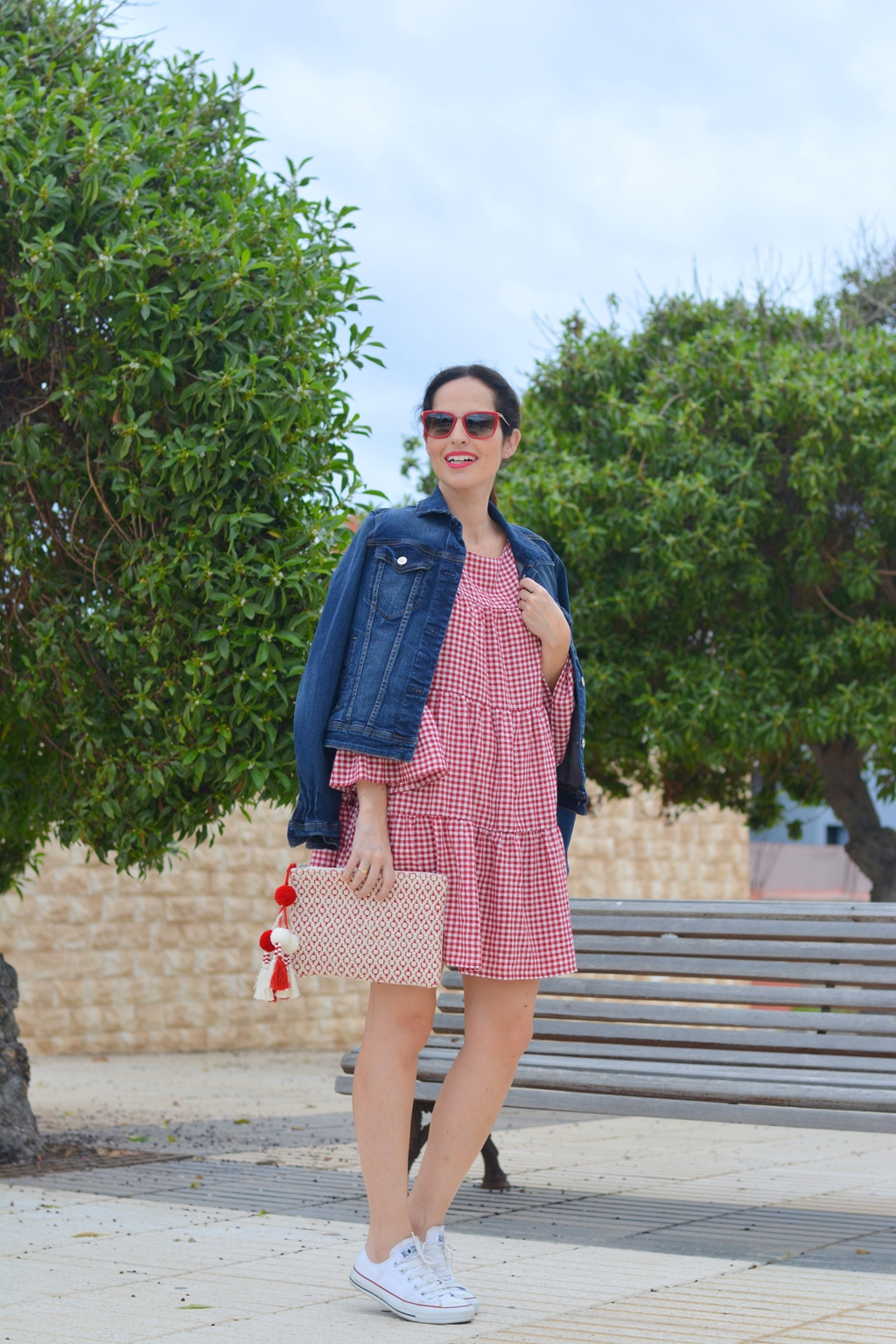 zara-gingham-mini-dress-look-streetstyle