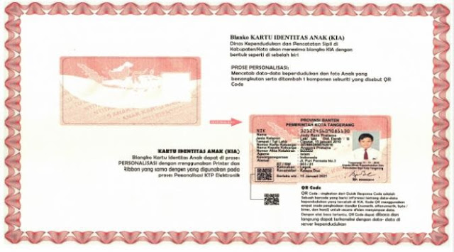 KIA Kartu Identitas Anak atau KTP Anak