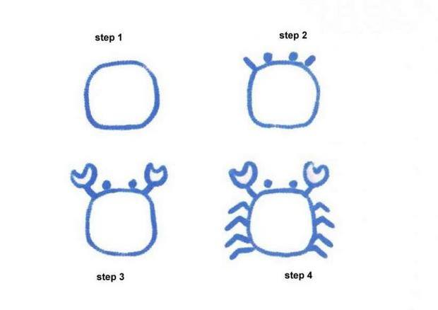 Learn to draw crab for kids