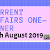 Current Affairs One-Liner: 16th August 2019