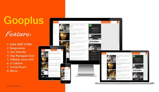 Gooplus Template AMP Blogspot tốt nhất 2017