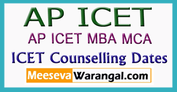 AP ICET Counselling MBA MCA Dates 2018
