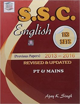 Book-PDF : SSC English 113 set Solved Papers (2013 - 2016), English Grammar Notes PDF, SSC English Chapter-wise Solved Papers, SSC English Exam Tricks - SSC Officer
