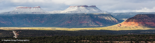 Bears Ears from Highway 261 on Cedar Mesa, San Juan County Utah