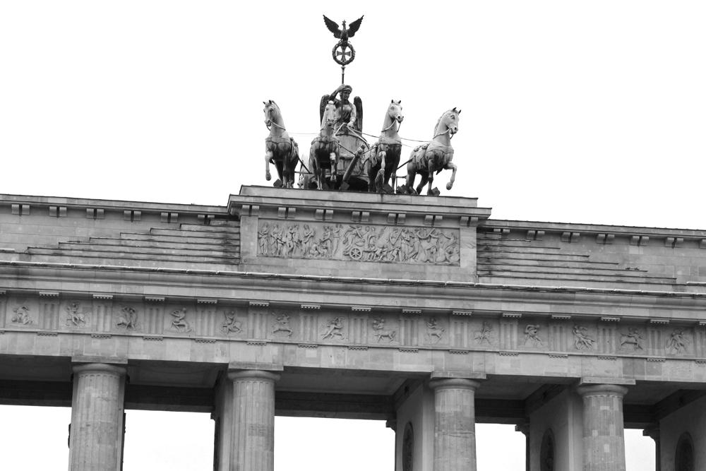 Brandenburg Gate statues in Berlin - travel & lifestyle blog
