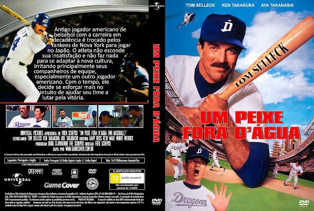 Capa DVD Um Peixe Fora Dagua (Mr Baseball - 1992) [Exclusiva]