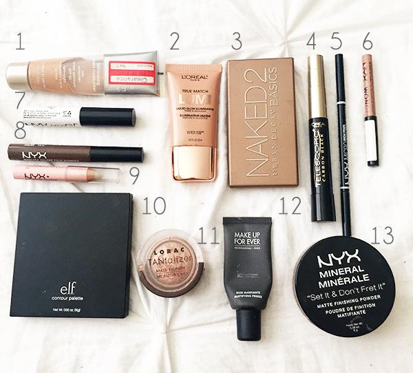 summer make-up essentials, travel make-up essentials