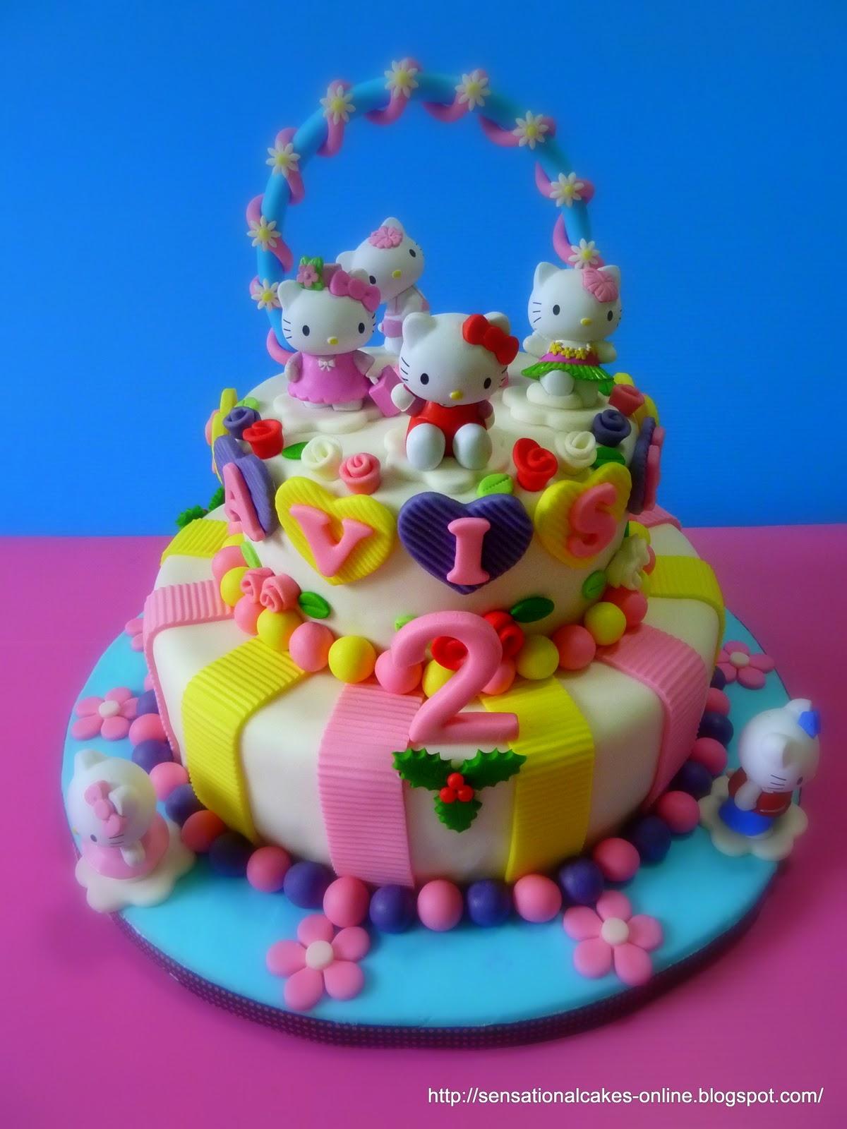 Cakes2share Singapore H Kitty 2tier 3d Cake Singapore