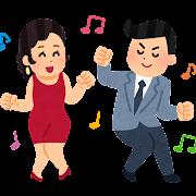 ツイストのイラスト(ダンス)