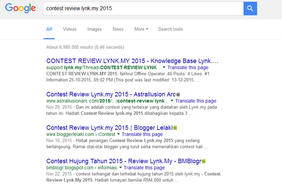 Google Malaysia Contest Review Lynk.my 2015