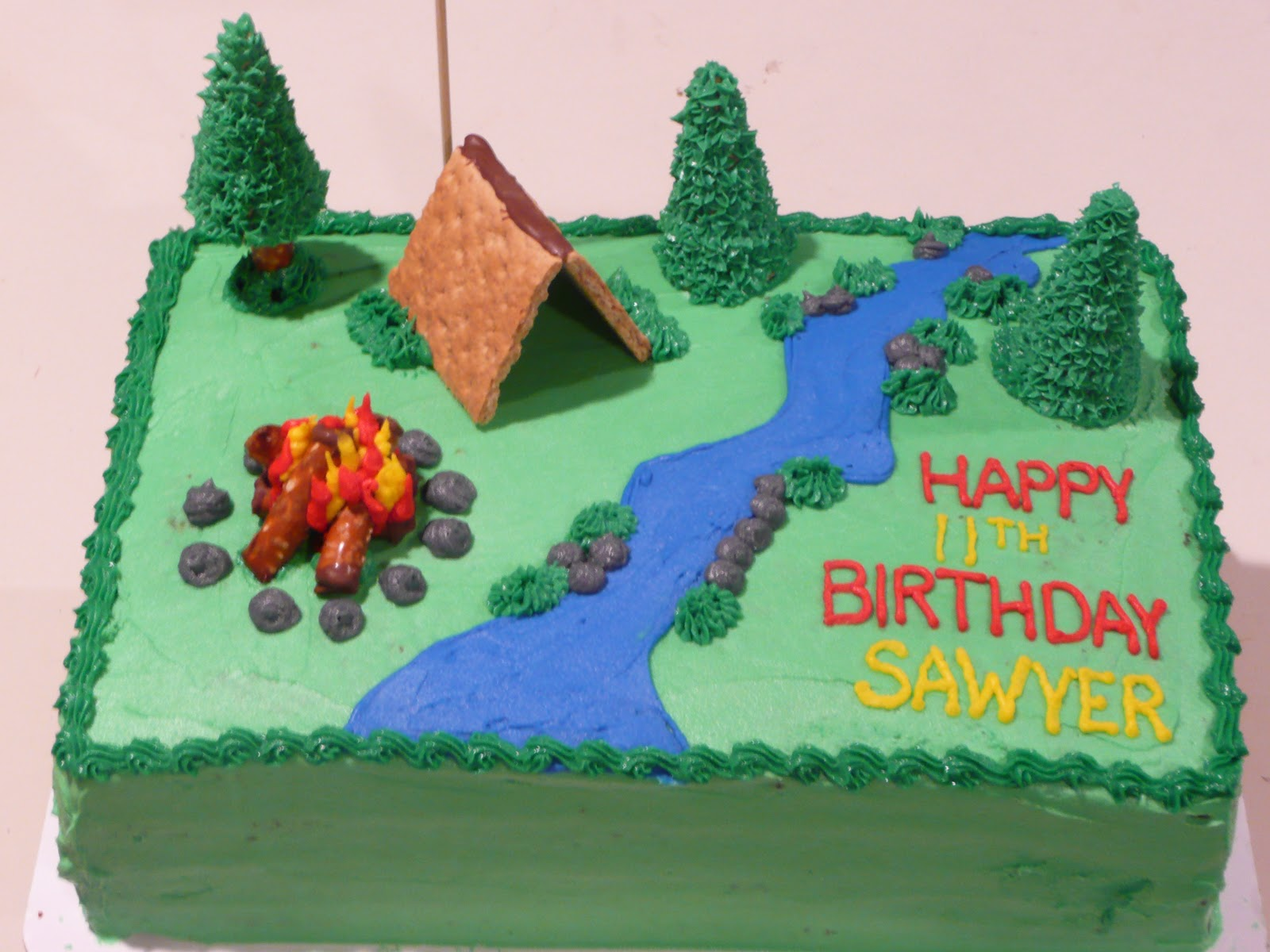 Boy Scout/C& Smores Cake & Desserts by Robin: Boy Scout/Camp Smores Cake