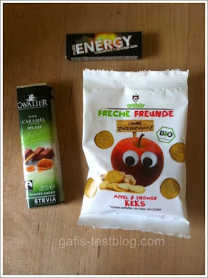 "Cavalier Stevia Schokolade - Caramel und Fun'n'gum Pure Energy Kaugummi und Erdbär Freche Freunde ""Apfel & Ingwer Keks"""