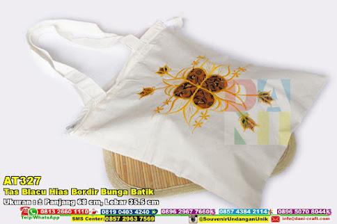Tas Blacu Hias Bordir Bunga Batik
