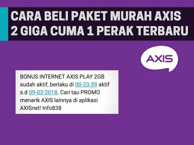 Mungkin kaya dari pengguna kartu Axis yang belum tahu dengan promo axis terbaru yang sa Tutorial Beli Kuota Murah Axis 2GB Cuma 1 Rupiah