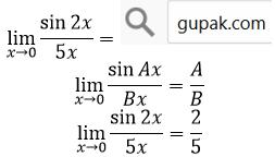 limit sin per x