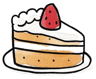 苺のショートケーキのイラスト(お菓子)
