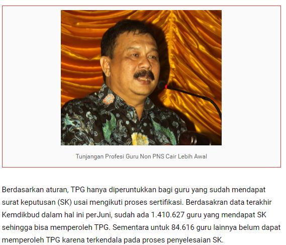 gambar pencairan TPG Non PNS 2016