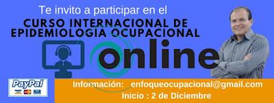 Curso Internacional de Epidemiología Ocupacional.Curso de Epidemiología Ocupacional para No Epidemiólogos