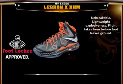 NBA 2K13 Roster LeBron X BHM Colorways Shoes