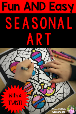 Check out this fun and easy art activity to get you through the holiday season! Perfect for the weeks and days before Christmas!