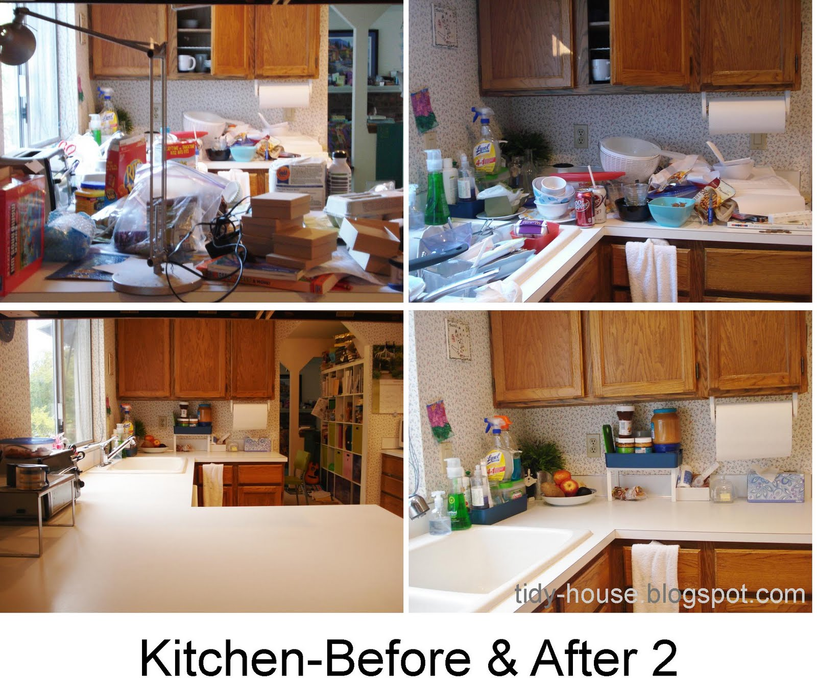 Messy Kitchen Counter: Tidy House: Final Kitchen-Before And After