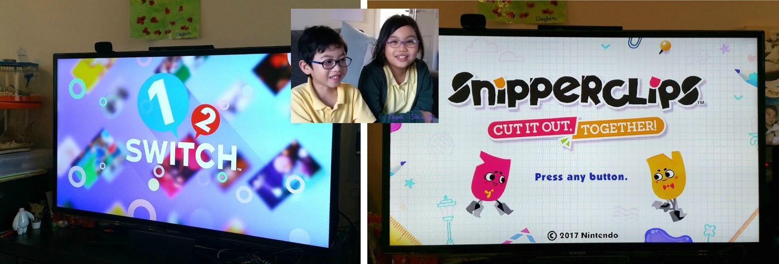 Nintendo Switch games, 1-2-Switch, Snipperclips Cut it out together