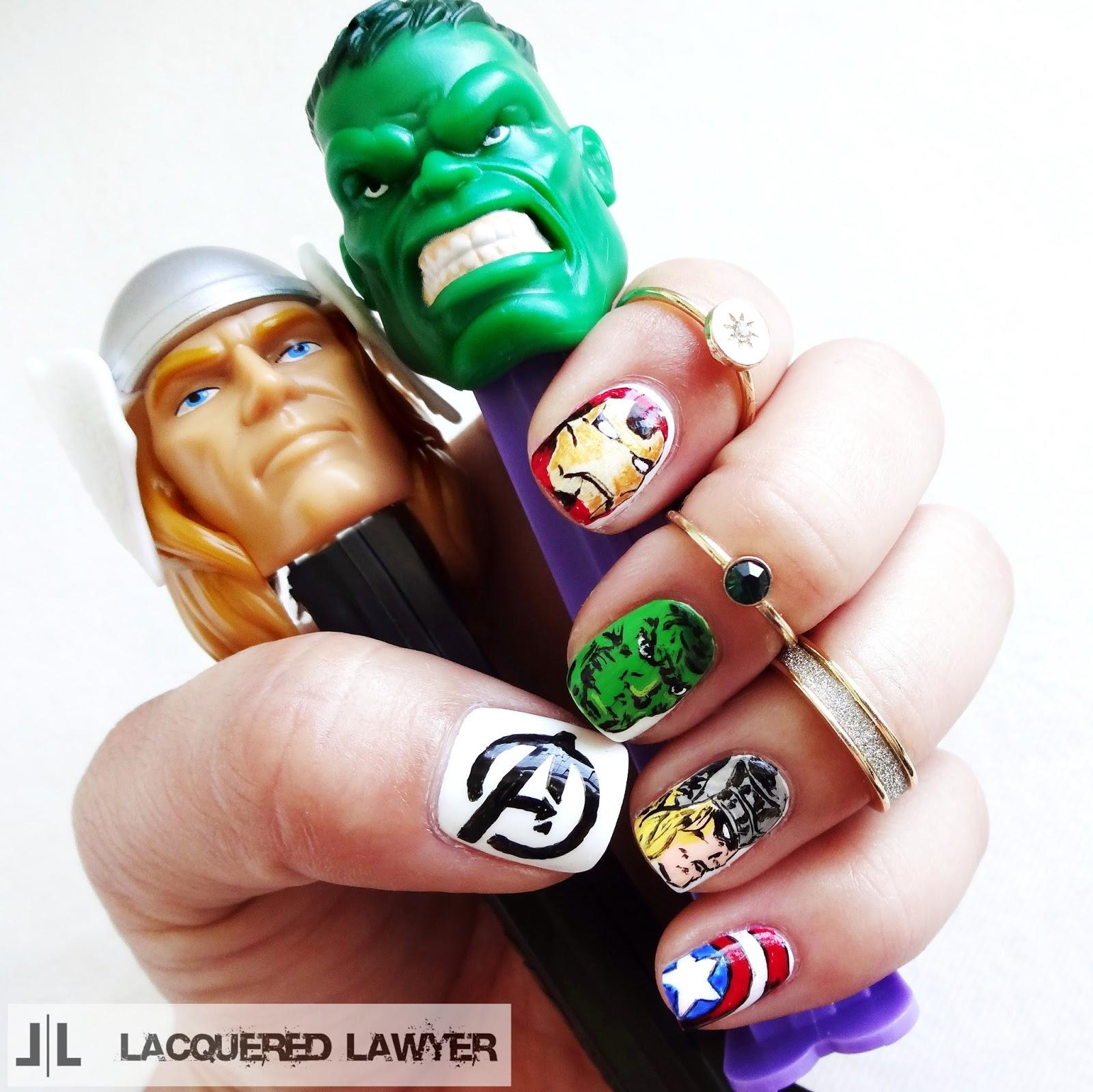 Nail Art Blog: Avengers