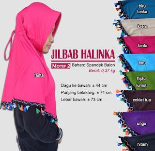 Jilbab bergo tassel kerut belakang - halinka 2