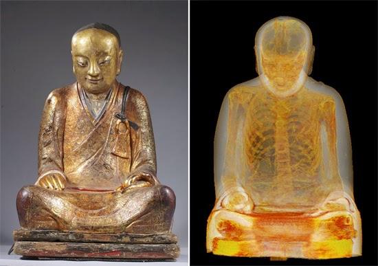 Estátua era na verdade uma Múmia de Monge budista