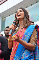 Puja Hegde looks stunning in Red saree at launch of Anutex shopping mall ~ Celebrities Galleries 128.JPG