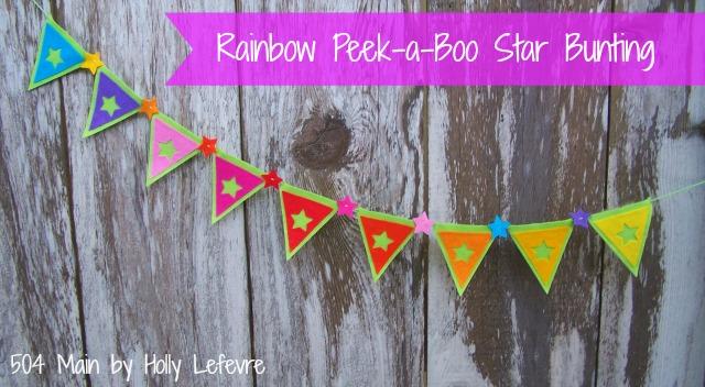 Rainbow Star Bunting