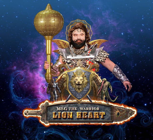 MSG The Warrior Lionheart - First Poster HD Wallpaper Download MP3 Songs Sherdil Saint Dr. Gurmeet Ram Rahim Singh Ji Insan