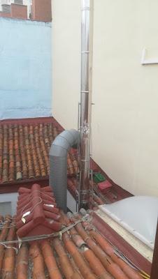 foto de una prolongación tubos de chimenea