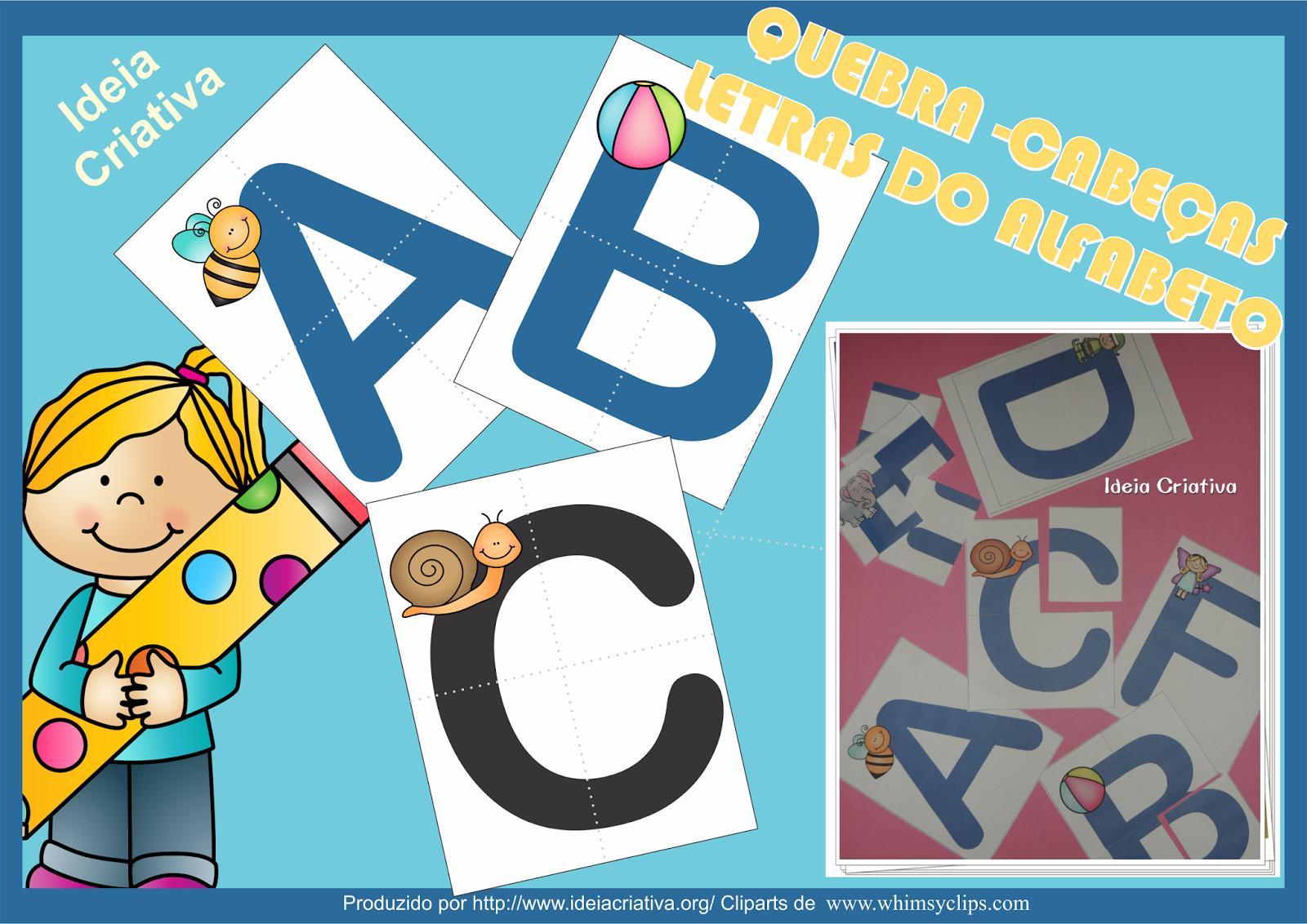 Quebra Cabeças Letras do Alfabeto