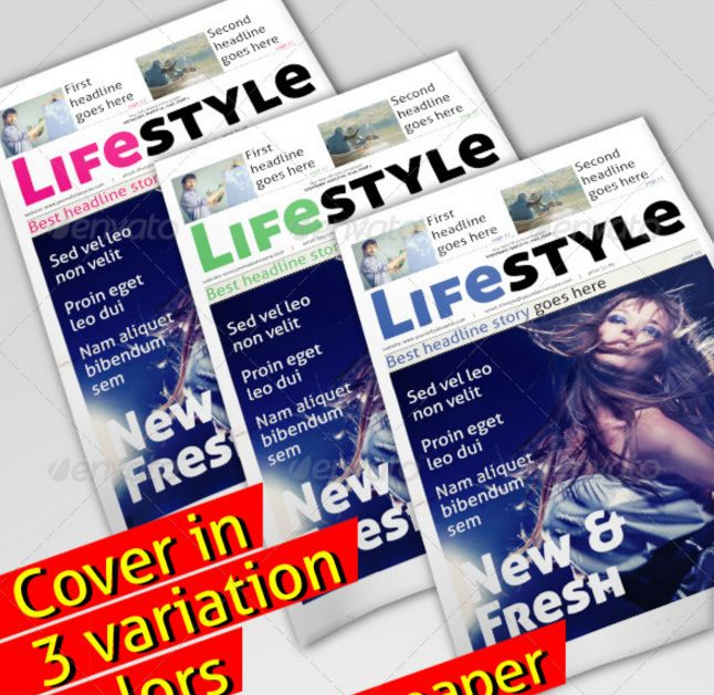 Best print newspaper templates in adobe indesign photoshop lifestyle newspaper indesign indd pronofoot35fo Gallery